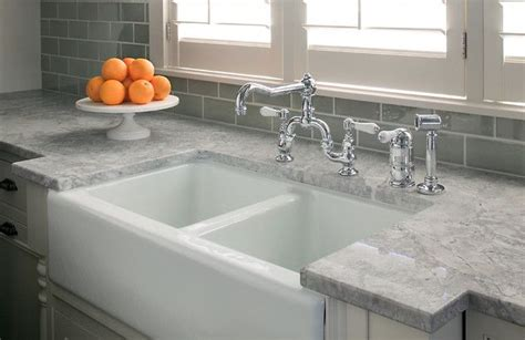 Kitchen Faucets Dallas by Light Grey Countertop With Grey Subway Tile Kitchen