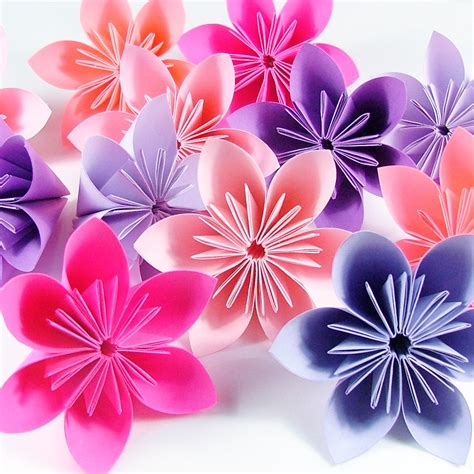 Paper Flower Origami - folding origami flowers 171 embroidery origami