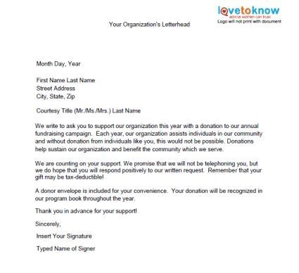 Fundraising Event Letter Template How To Write Donation Letter Sles Of Non Profit Fundraising Letters Lovetoknow Allponno