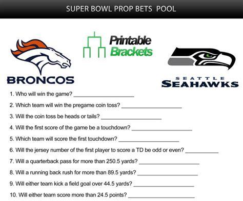 Super Bowl Prop Bets   Super Bowl Prop Bets Pool