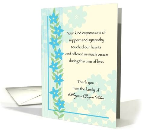 appreciation letter condolences thank you card exle sympathy card thank you messages