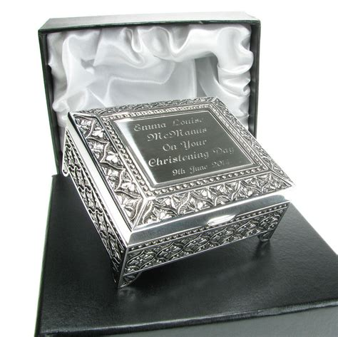 gifts uk christening gift personalised engraved silver plated