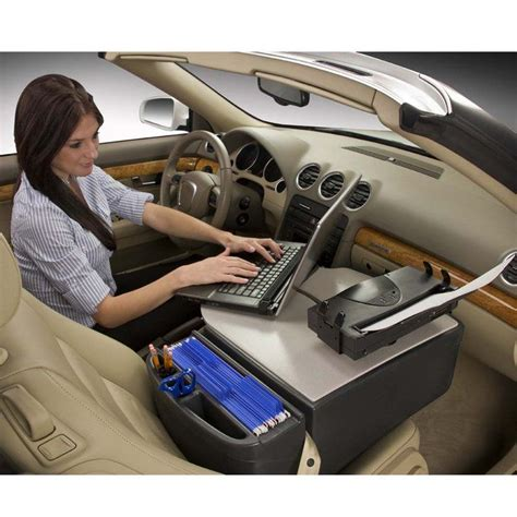 Car Laptop Desk Autoexec Roadmaster Car Desk With Printer Stand Secured Laptop Support System Makes Your