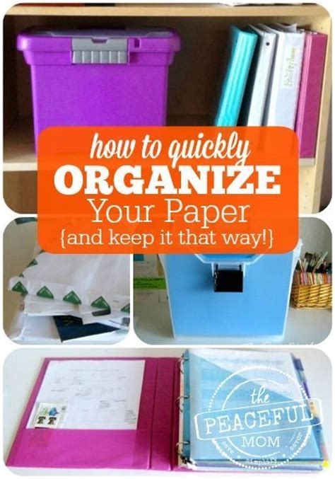 how to organize paperwork messages and feeling