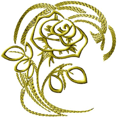 embroidery design sites gold rose 2 embroidery pinterest