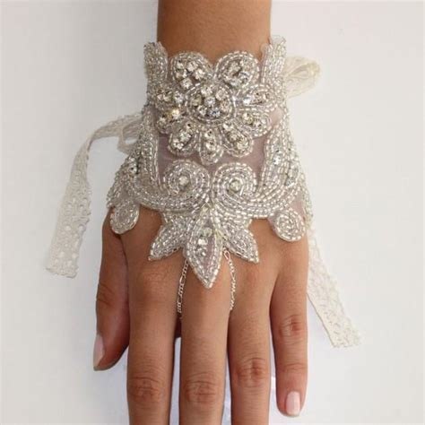 Rhinestone Wedding Gloves bridal gloves decorated with crystals and rhinestones