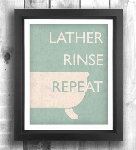 poster bathroom quote print poster bathroom art retro poster digital