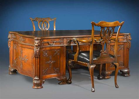 partners desk s j waring and gillows antique desk