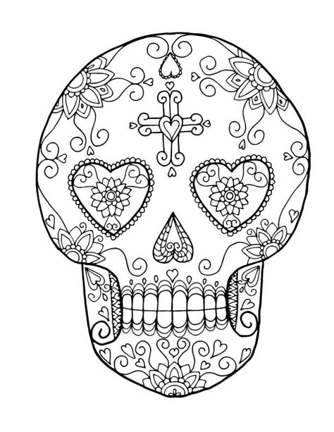 coloring pages of hearts and skulls skulls and hearts coloring pages www imgkid com the