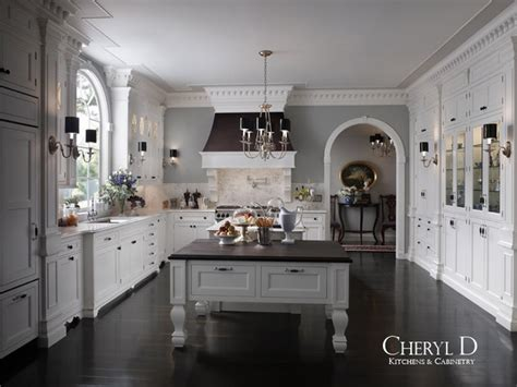 White And Dark Kitchen Cabinets by Luxury Kitchens Traditional Kitchen Chicago By