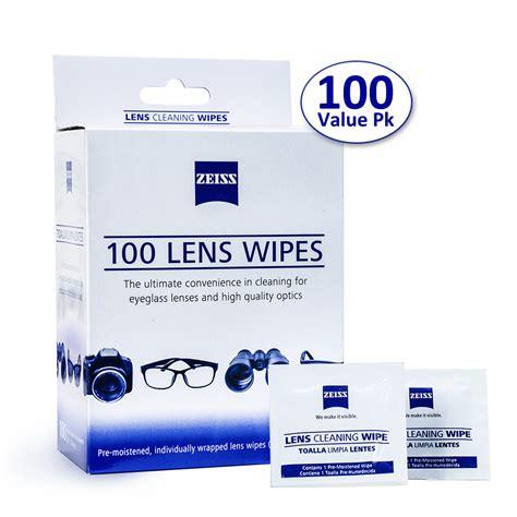 zeiss pre moistened lens cloths wipes glasses phone