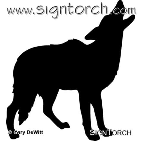 coyote howling  signtorch turning images  vector cut paths