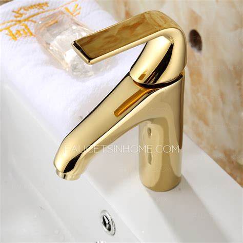 polished gold bathroom faucets smooth polished brass gold bathroom faucets one handle