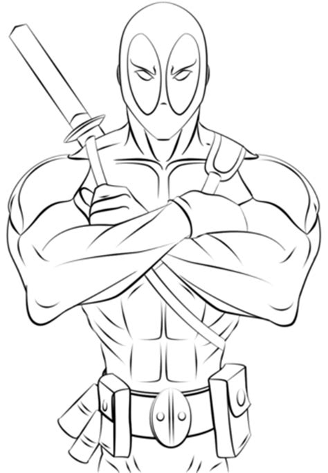 deadpool coloring pages bestofcoloring.com
