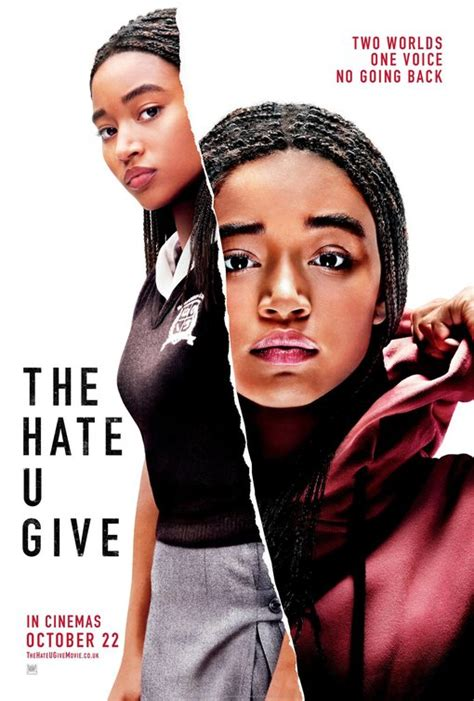 1406384763 the hate u give the hate u give movie poster 2 of 2 imp awards