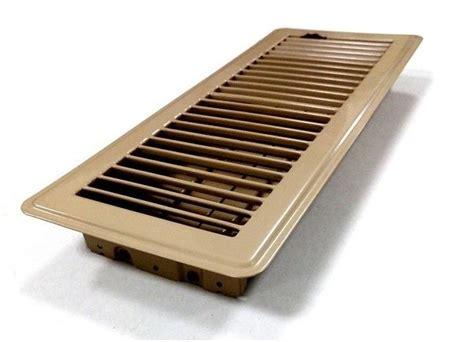 beige louvered ducted heating floor vent 100x300mm floor