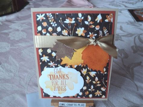 stin up give thanks for all things handmade card