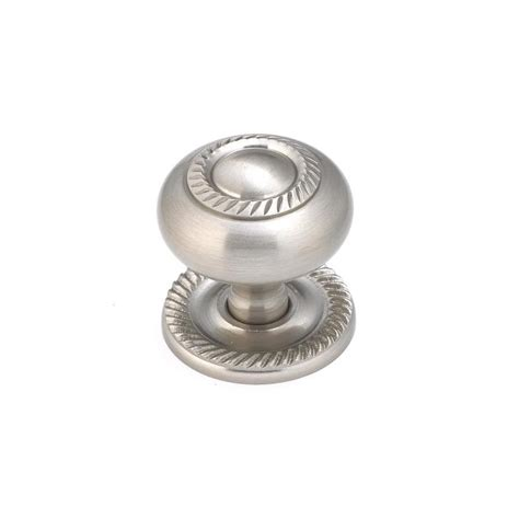 lowes knobs brushed nickel shop richelieu brushed nickel round knob at lowes com