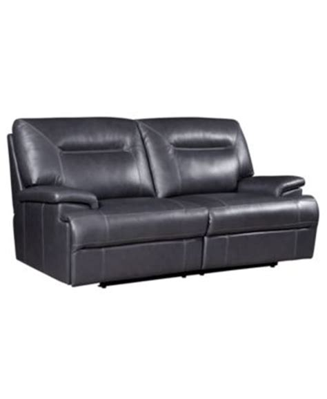 Ricardo Leather Reclining Sofa Ricardo Leather Reclining Sofa Power Recliner 88 Quot W X 44 Quot D X 38 Quot H Furniture Macy S