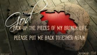 Jesus Comforts The Brokenhearted by Picking Up The Pieces And Healing Inspirational
