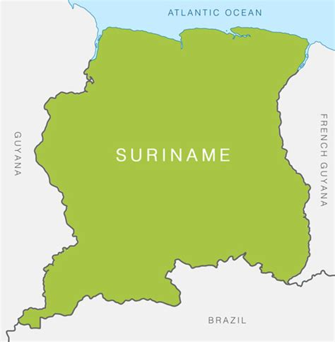 where is suriname on a map suriname360 187 about suriname