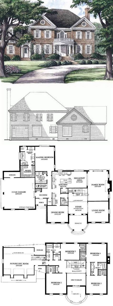 big houses floor plans best 25 3 bedroom house ideas on house floor