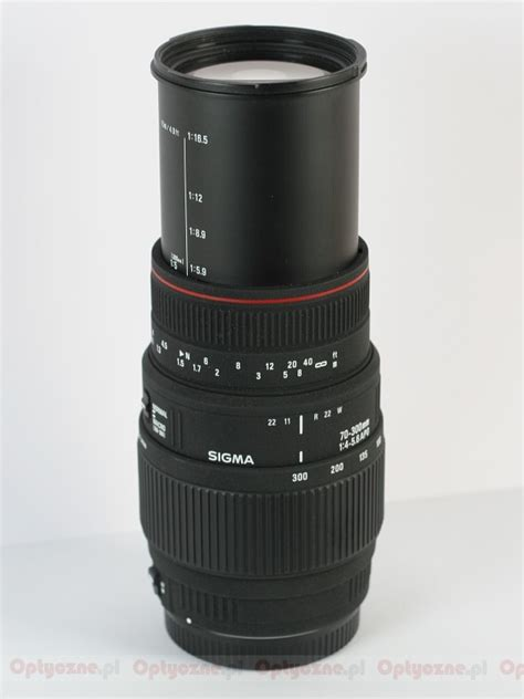 Sigma 70 300 Apo lenstip lens review lenses reviews lens specification lenstip