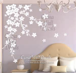 white flower wall stickers white cherry blossom wall decals flower vinyl wall decals