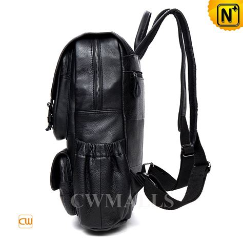rugged leather backpack cwmalls 174 black rugged leather backpack cw916005