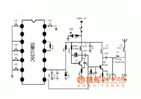 radio remote circuit diagram radio remote car sending schematic diagram