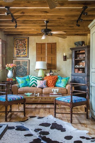 bright color home decor don t normally see bright colors in rustic decor