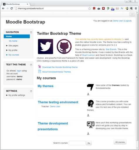 moodle theme jquery new version of the bootstrap theme for moodle available