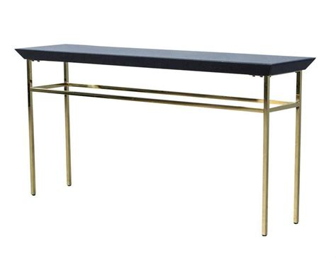 gold console table black glass and gold metal console table at 1stdibs