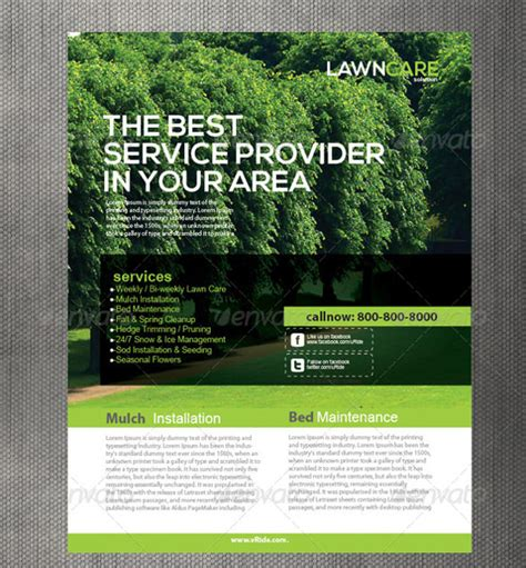 landscaping flyer templates lawn care flyers 28 free psd ai vector eps format