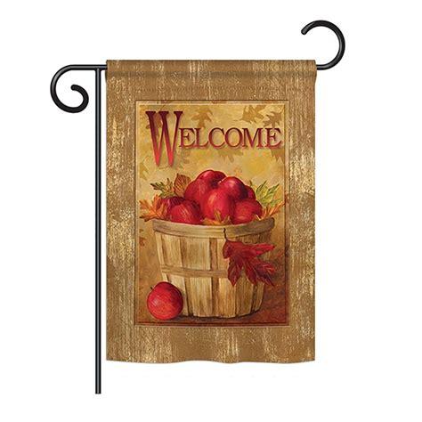 welcome apple basket garden flag more garden flags at