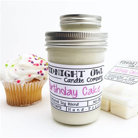 birthday cake scented candle 8 oz candle gift unique birthday cake mason jar candle 8oz or 16oz strongly scented