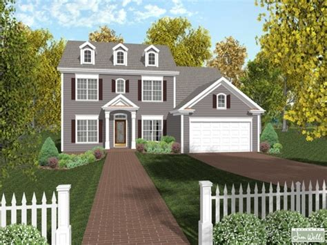 Colonial Houseplans by New Colonial House Plans Colonial House Plans