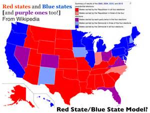 does the state blue state model of u s electoral