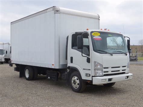 2014 used isuzu npr hd 16ft box truck with lift gate at