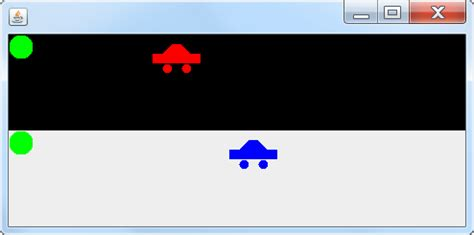 java swing objects swing java racing game jpanel component moves along