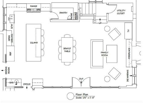 create kitchen floor plan best 25 kitchen layout design ideas on pinterest