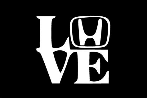 Honda H Sticker Decal by Love My Honda W H Letter Car Decal Sticker Jdm Car