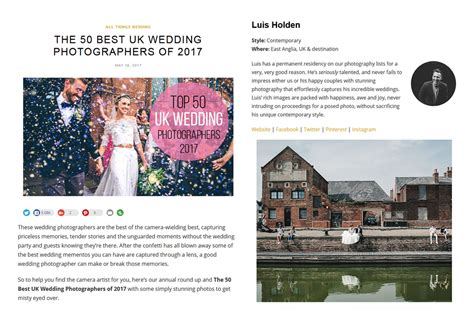 Best Wedding Photography Websites by Best Wedding Photography Websites 2017 Mini Bridal