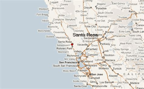 santa rosa california map santa rosa california location guide