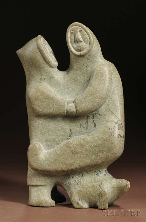 eskimo soapstone carvings inuit soapstone carving sale number 2596b lot number