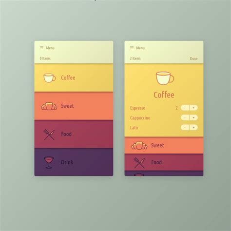 Jquery Ui Layout Background Color | menu app interface coding app code css css3 html html5