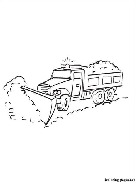 coloring page snowplow coloring pages