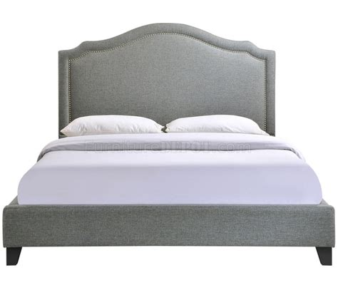 grey fabric bed charlotte bed in gray fabric by modway