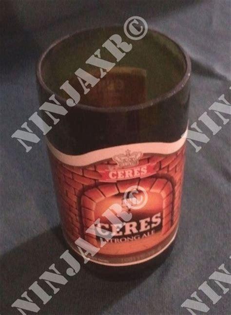 bicchieri per birra vendita 3 bicchieri birra ceres ottenuti da bottiglie per la