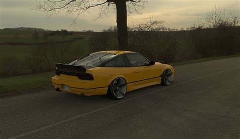 stanced nissan nissan 240 sx s13 stanced 3d model max 3ds fbx skp